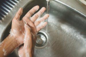 dentist near Severna Park washing their hands