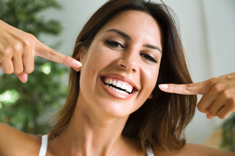 Woman after cosmetic dentistry in Millersville